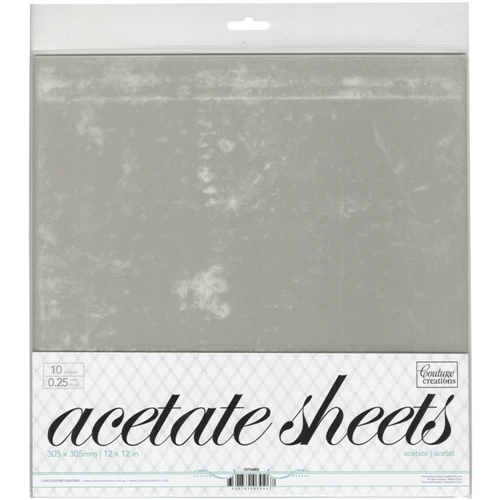 Couture Creations 12 X 12 ACETATE SHEETS CO724603* Preview Image