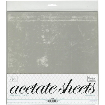 Couture Creations 12 X 12 ACETATE SHEETS CO724603*