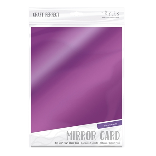 Tonic ELECTRIC PURPLE Mirror Card Gloss Cardstock 9455E Preview Image