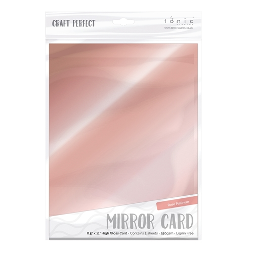 Tonic ROSE PLATINUM Mirror Card Gloss Cardstock 9456E Preview Image