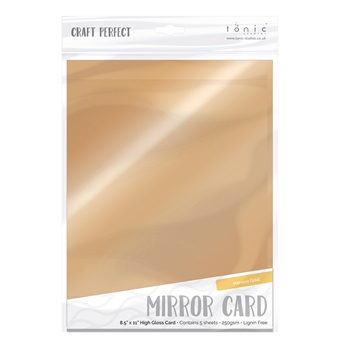 Tonic HARVEST GOLD Mirror Card Gloss Cardstock