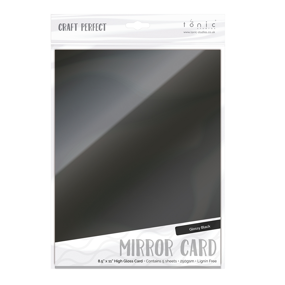 Tonic BLACK Mirror Card Gloss Cardstock 9459E zoom image