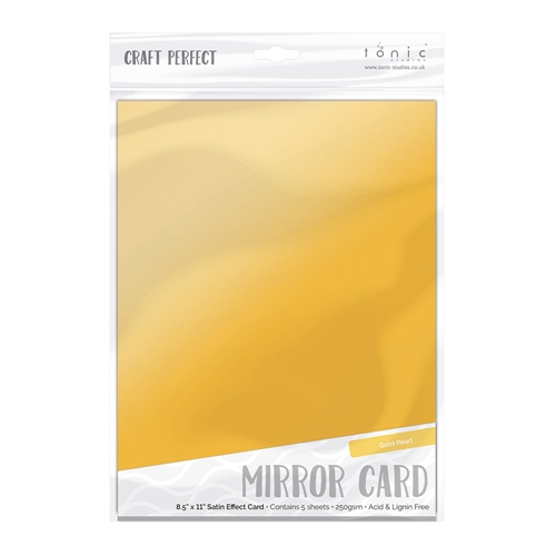 Tonic GOLD PEARL Mirror Card Satin Cardstock 9481E Preview Image