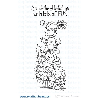 Your Next Stamp A CUTE HOLIDAY STACK Clear CYNS600*