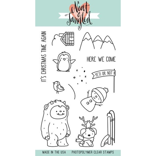 Neat and Tangled GET YETI Clear Stamp Set NAT313 Preview Image