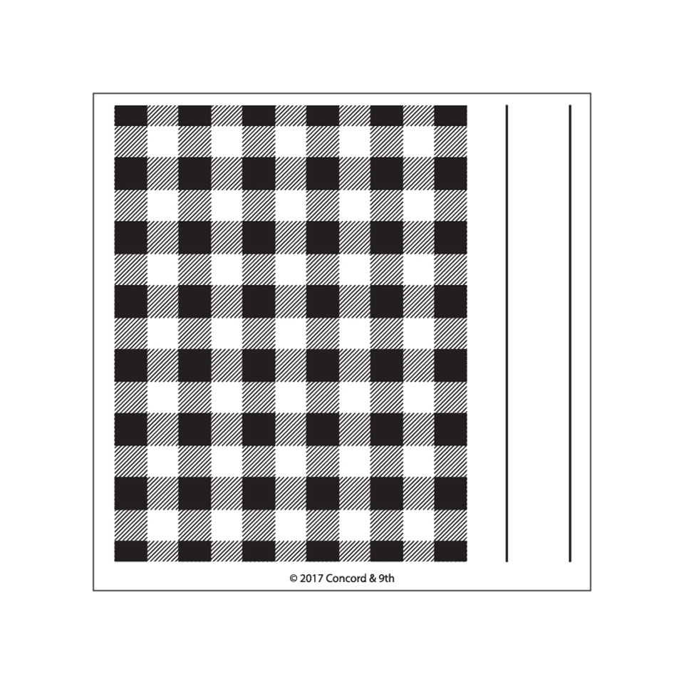 Concord & 9th PLAID BACKGROUND Clear Stamp Set 10269 zoom image
