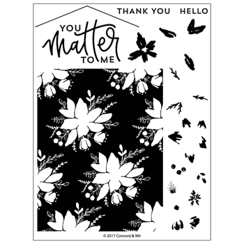 Concord & 9th BLOOMS FILL-IN Clear Stamp Set 10270