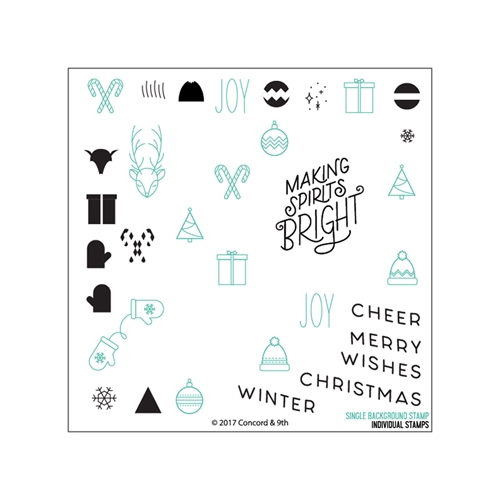 Concord & 9th CHRISTMAS CHEER TURNABOUT Clear Stamp Set 10273 Preview Image
