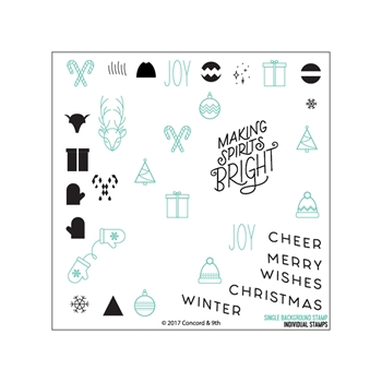 Concord & 9th CHRISTMAS CHEER TURNABOUT Clear Stamp Set 10273