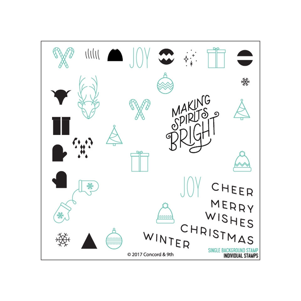 Concord & 9th CHRISTMAS CHEER TURNABOUT Clear Stamp Set 10273 zoom image