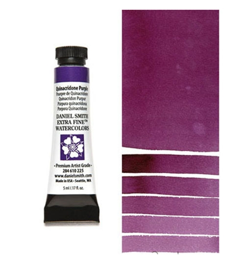 Daniel Smith QUINACRIDONE PURPLE 5ML Extra Fine Watercolor 284610225 zoom image