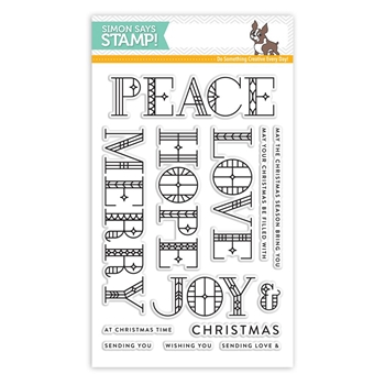 Simon Says Clear Stamps STAINED GLASS GREETINGS SSS101768 Making Spirits Bright
