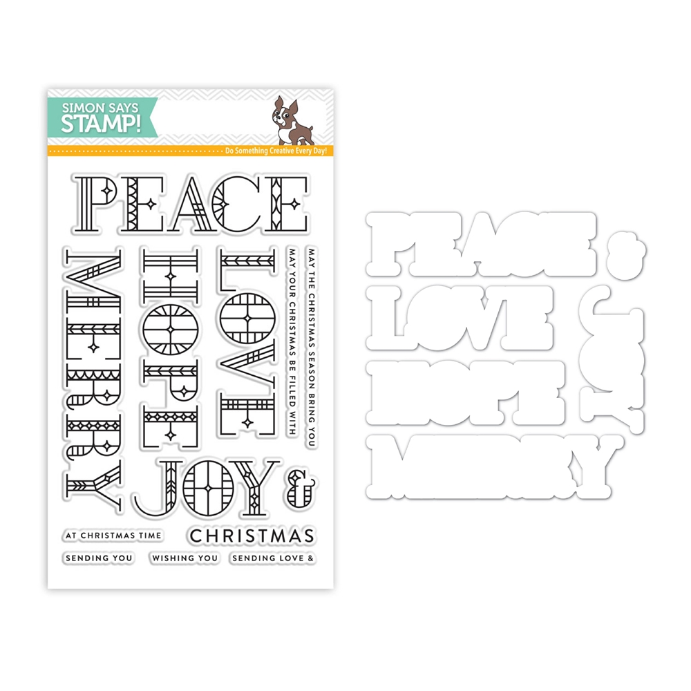 Simon Says Stamps And Dies STAINED GLASS GREETINGS Set312SG Making Spirits Bright zoom image