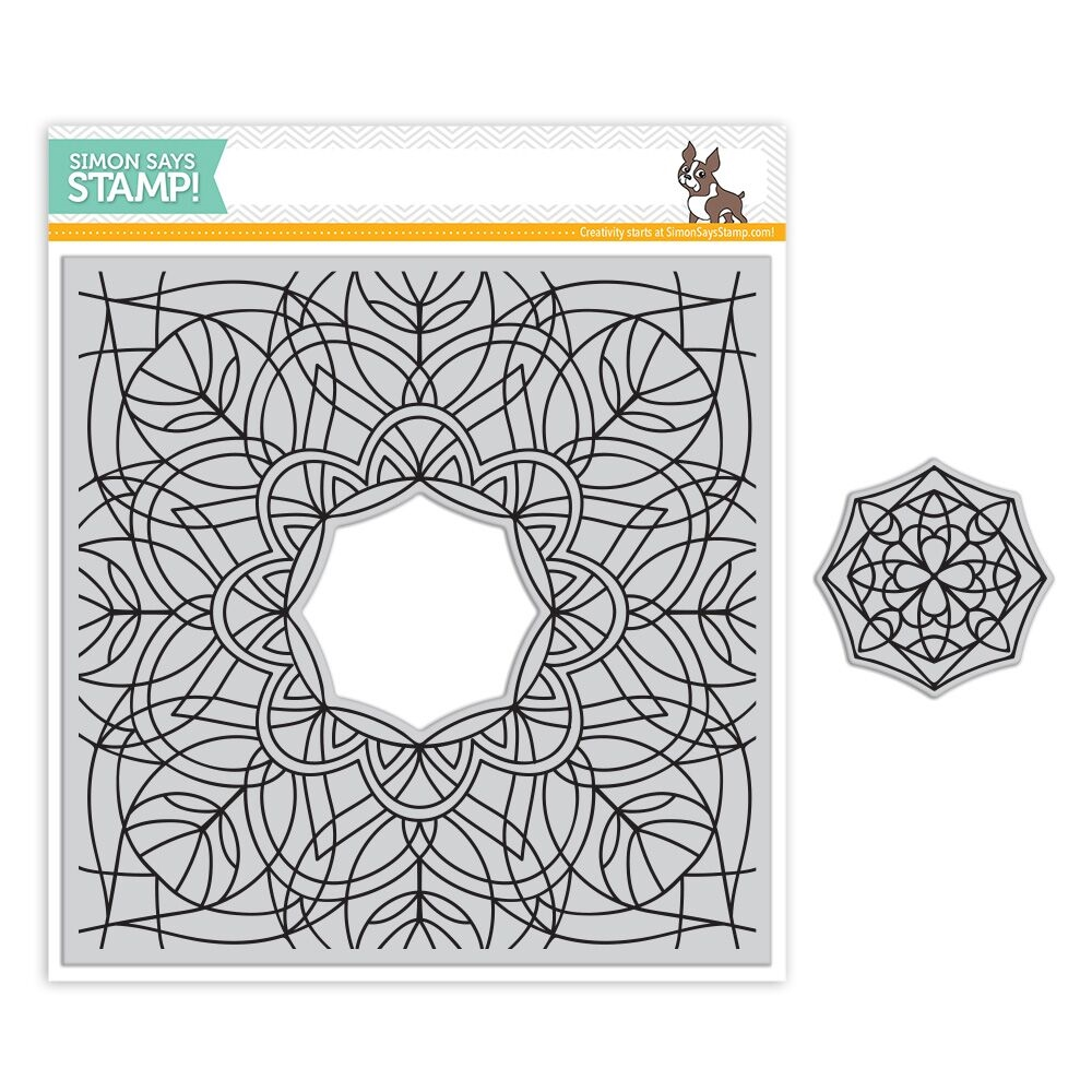 Simon Says Cling Rubber Stamp CENTER CUT KALEIDOSCOPE SSS101766 zoom image