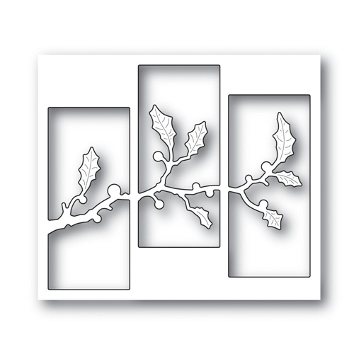 Simon Says Stamp HOLLY TRIPTYCH Wafer Dies S473 Making Spirits Bright Preview Image