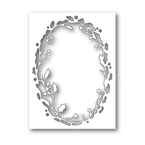 Simon Says Stamp HOLLY OVAL FRAME Wafer Dies S487 Making Spirits Bright Preview Image