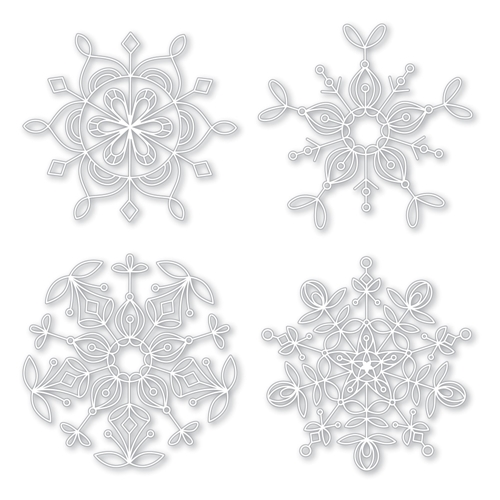 Simon Says Stamp Stencils FROZEN FRACTALS STENCIL SSST121400 Making Spirits Bright Preview Image