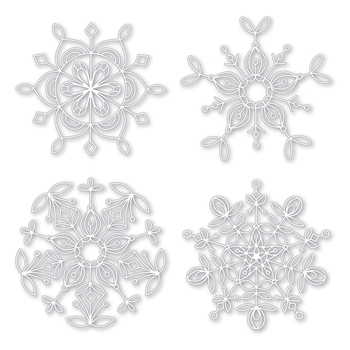 Simon Says Stamp Stencils FROZEN FRACTALS STENCIL SSST121400 Making Spirits Bright