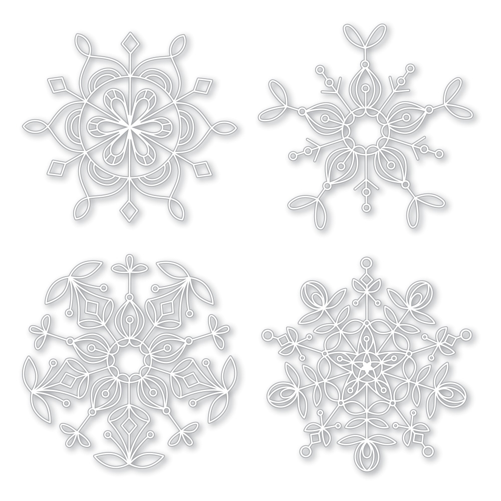 Simon Says Stamp Stencils FROZEN FRACTALS STENCIL SSST121400 Making Spirits Bright zoom image