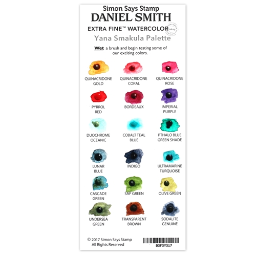 Simon Says Stamp Daniel Smith YANA'S SET Watercolor Palette DSPSYS17 Making Spirits Bright Preview Image