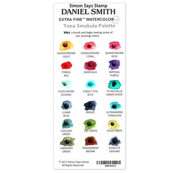 Simon Says Stamp Daniel Smith YANA'S SET Watercolor Palette DSPSYS17 Making Spirits Bright