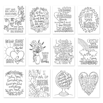 Simon Says Stamp Suzy's GRATITUDE Watercolor Prints SZGRA17 Making Spirits Bright