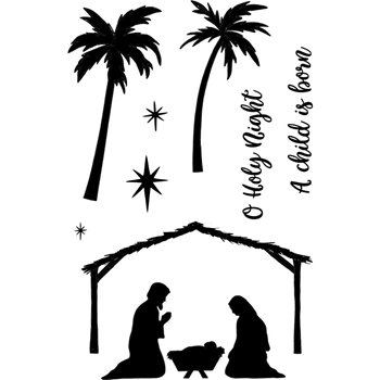 Jane's Doodles HOLY NIGHT Clear Stamp Set 743221*