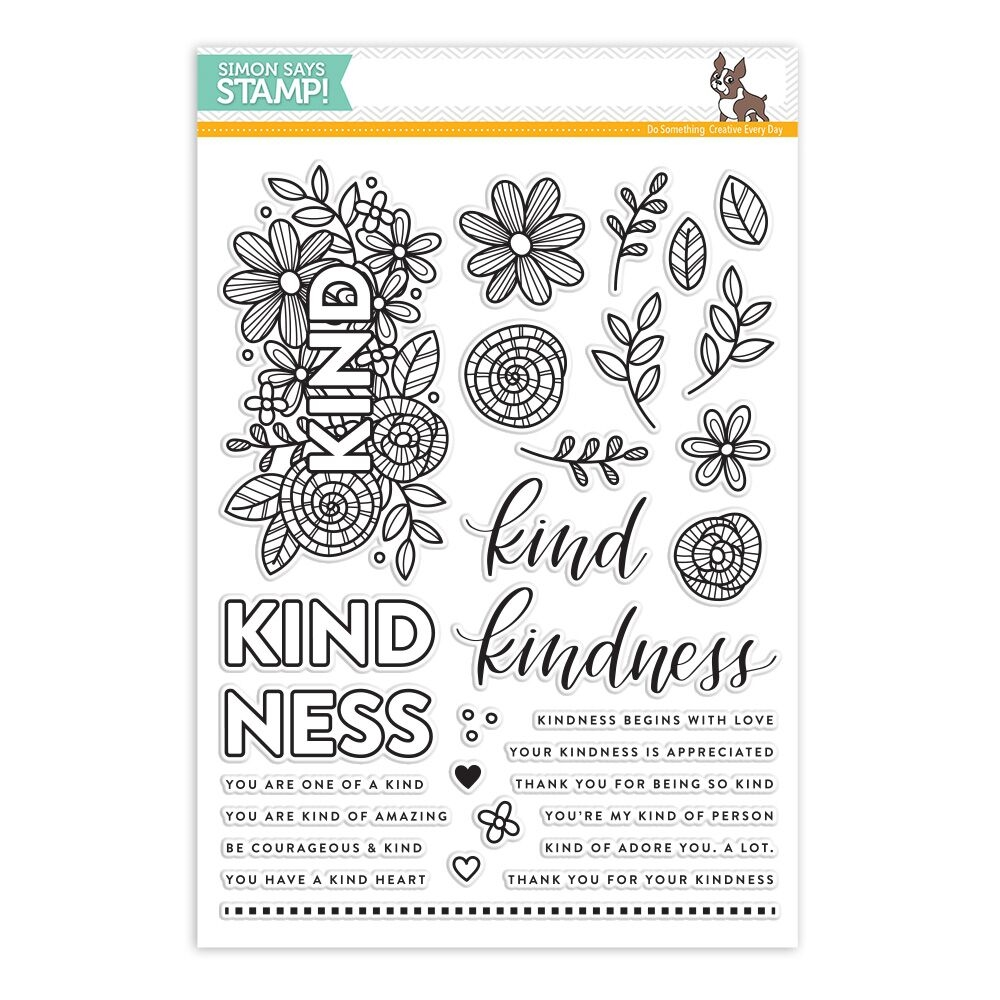 Simon Says Clear Stamps KIND FLOWERS SSS101712 zoom image