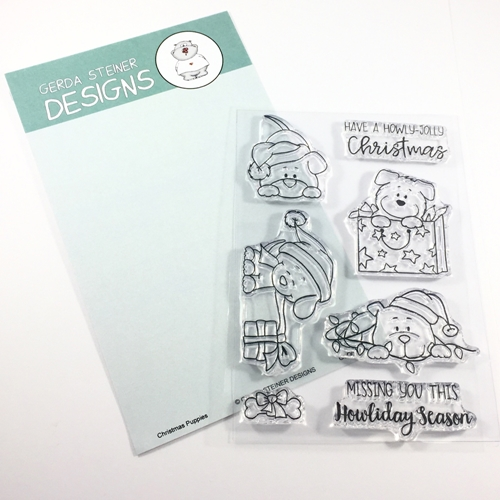 Gerda Steiner Designs CHRISTMAS PUPPIES Clear Stamp Set GSD619 Preview Image