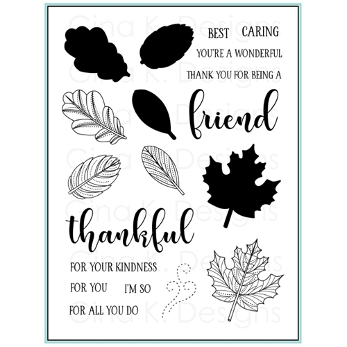Gina K Designs STITCHED LEAVES Clear Stamps 9399 Preview Image