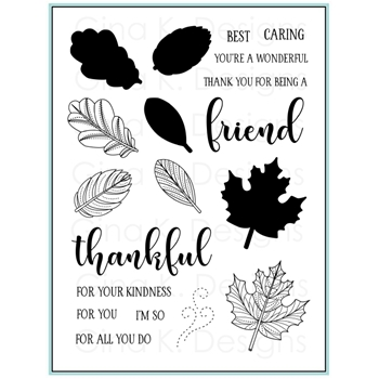 Gina K Designs STITCHED LEAVES Clear Stamps 9399
