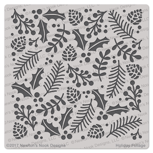 Newton's Nook Designs HOLIDAY FOLIAGE Stencil NN1710T02 Preview Image