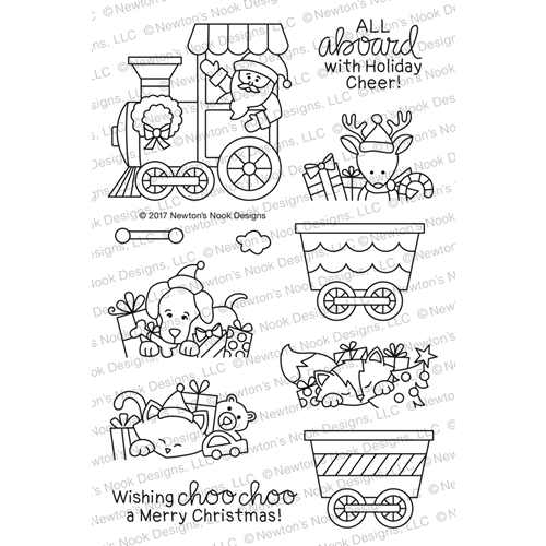 Newton's Nook Designs ALL ABOARD FOR CHRISTMAS Clear Stamp Set NN1710S02 Preview Image