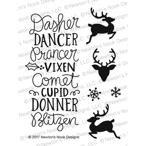 Newton's Nook Designs REINDEER ROLL CALL Clear Stamp Set NN1710S07* Preview Image