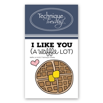Technique Tuesday WAFFLE LOT Clear Stamps 02419