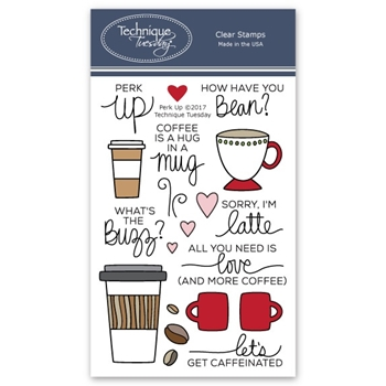 Technique Tuesday PERK UP Clear Stamps 02570*