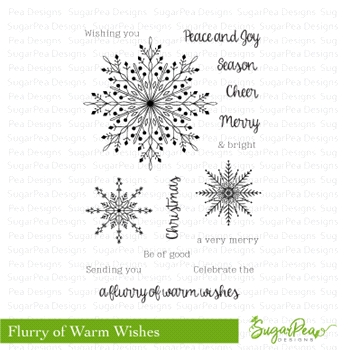 SugarPea Designs FLURRY OF WARM WISHES Clear Stamp Set SPD-00252