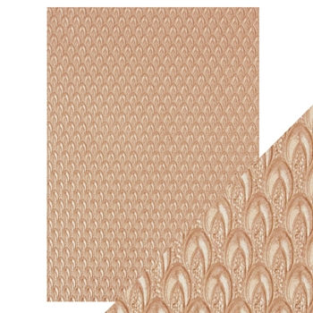 Tonic CHAMPAGNE FOUNTAIN Hand Crafted Embossed Cotton A4 Paper Pack 9808e*
