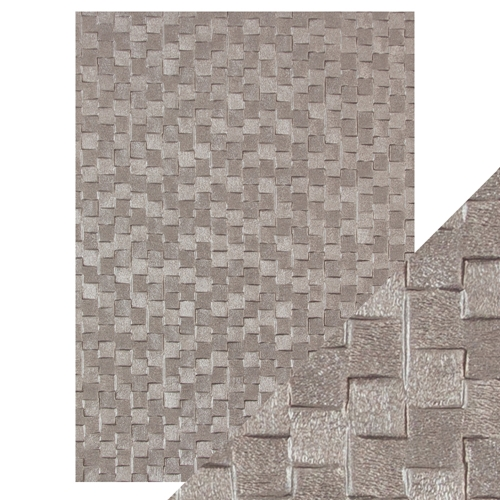 Tonic PEWTER SLATES Hand Crafted Embossed Cotton A4 Paper Pack 9813e* Preview Image