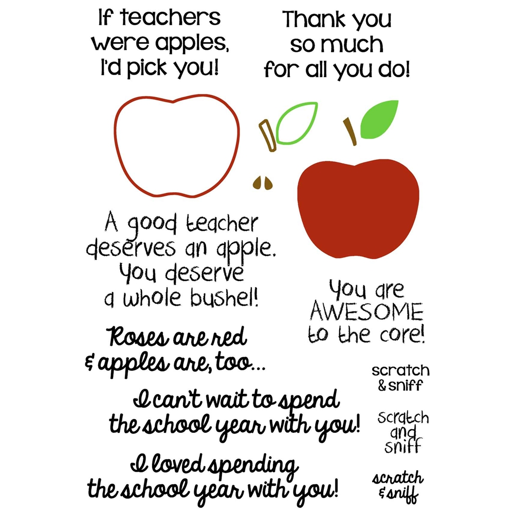 Inky Antics APPLE FOR TEACHER Clear Stamp Set 11377sc zoom image