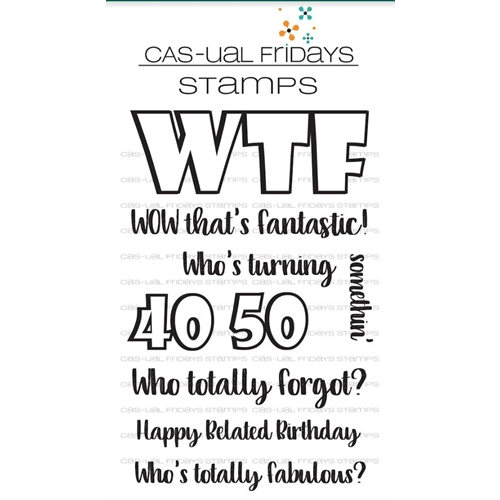 CAS-ual Fridays WTF 2 Clear Stamps CFS1722 Preview Image