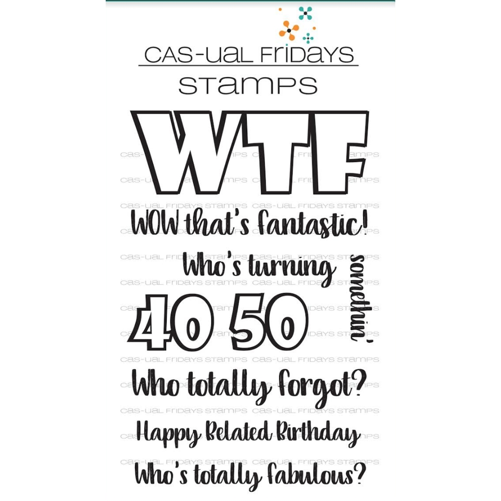 CAS-ual Fridays WTF 2 Clear Stamps CFS1722 zoom image