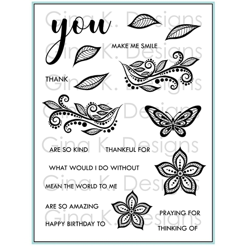 Gina K Designs BOHO FLOWERS Clear Stamps 9308 Preview Image