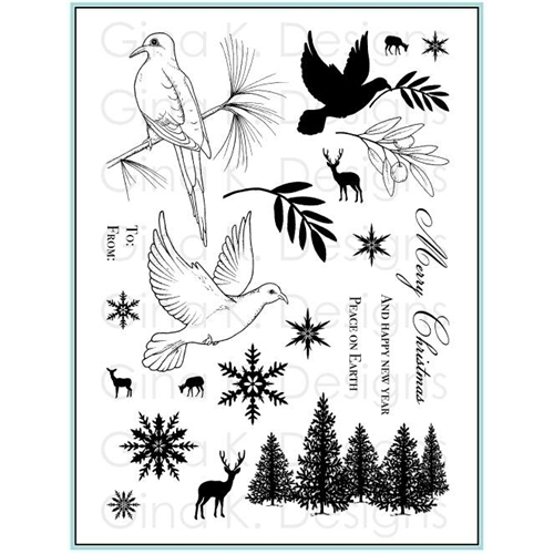 Gina K Designs PEACEFUL HOLIDAY Clear Stamps 9285 Preview Image