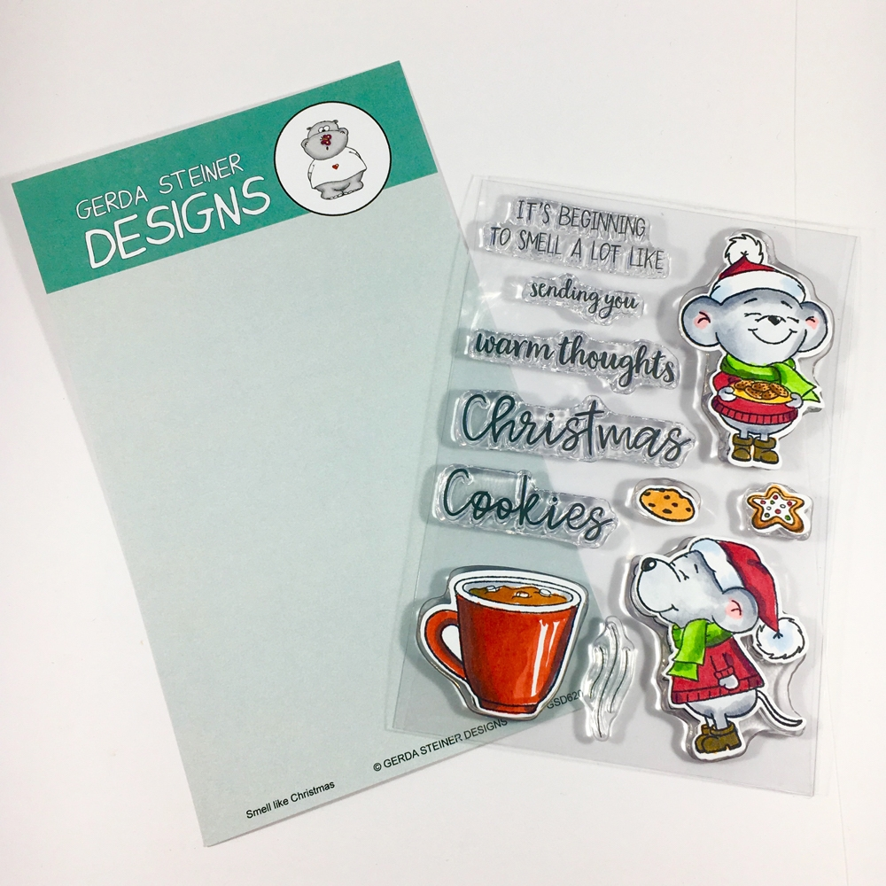 Gerda Steiner Designs SMELL LIKE CHRISTMAS Clear Stamp Set gsd620 zoom image