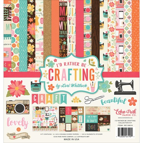 Echo Park I'D RATHER BE CRAFTING 12 x 12 Collection Kit ibc138016* Preview Image