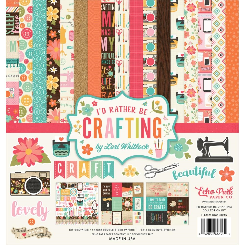 Echo Park I'D RATHER BE CRAFTING 12 x 12 Collection Kit ibc138016* zoom image