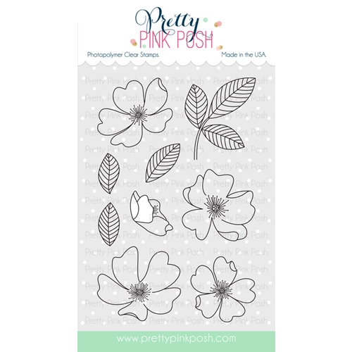 Pretty Pink Posh WILD ROSE Clear Stamp Set  Preview Image