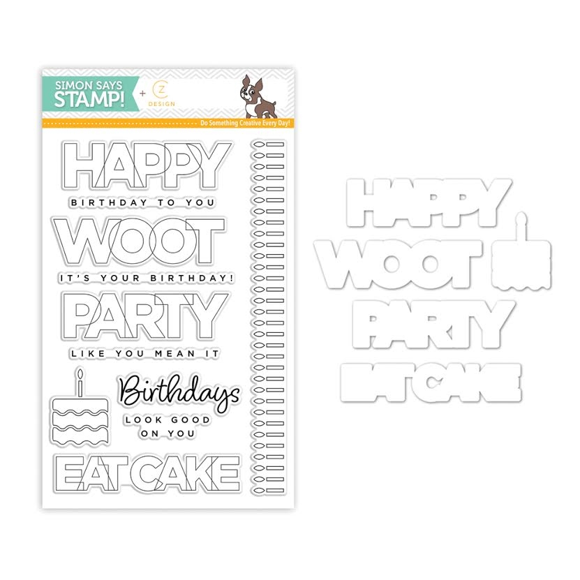 CZ Design Stamps and Dies BIRTHDAY PALOOZA czset6 zoom image