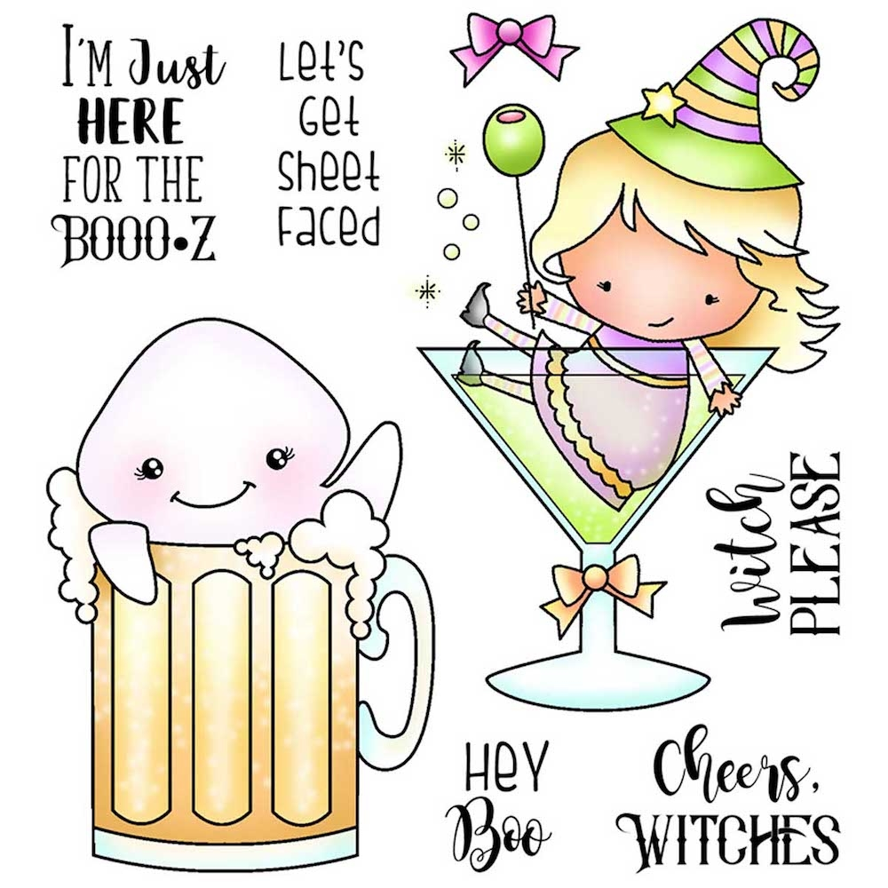 Darcie's HERE FOR BOOZ Clear Stamp Set pol367 zoom image